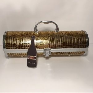 NEW WINE BOTTLE PURSE HOLDER & CORK SCREW